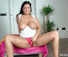 Curvaceous Jasmine Black Is Caressing Herself 1