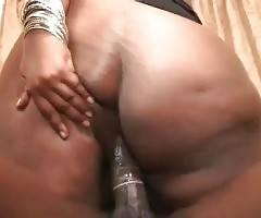 Obese Chocolate Whore Enjoys Hard Cock 1
