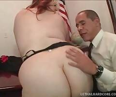 Slutty Blond Fattie Enjoys Big Black Cock 1