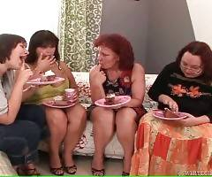 Four Chubby Ladies Free Their Lust 1