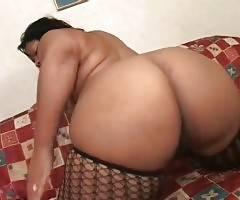 Heavy Black Babe Tastes Partner`s Boner 2
