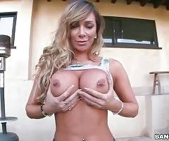 Sexy Destiny Dixon fleshes her awesome big boobs.