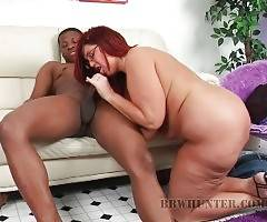 Black Guy Deeply Drills Redhead Fattie 3