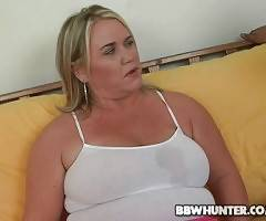 This chubby blonde appears to be very naughty and ready for fun.