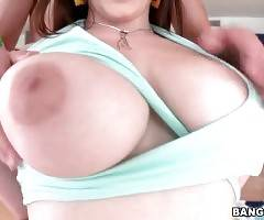 Noelle Easton`s incredible massive natural tits can turn every guy on in a moment.